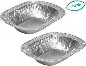 Capable Feuille Tarte Rectangle Aluminium Plat, Viande Steak, Jetable Cas 130 Mm X 107 Mm-afficher Le Titre D'origine