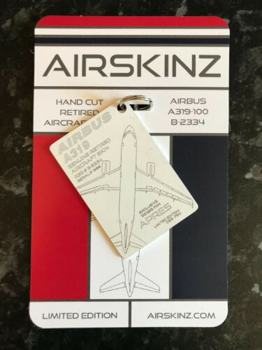 REAL AIRCRAFT SKIN AIRBUS A319-112 AIRSKINZ WHITE TAG