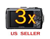 3x Olympus Stylus Tough Tg-2 Digital Camera Lcd Screen Protector Guard Shield
