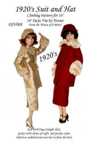 """Emma Jean Anne De Leger DJV008  1920/'s Suit Sewing pattern for 16/""""  Deja Vu"""