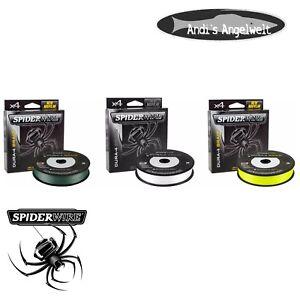 Spiderwire-Dura-4-150m-300m-alle-Farben-und-Staerken-geflochtene-Schnur