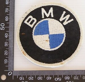 VINTAGE-BMW-LOGO-EMBROIDERED-SOUVENIR-PATCH-WOVEN-CLOTH-SEW-ON-BADGE