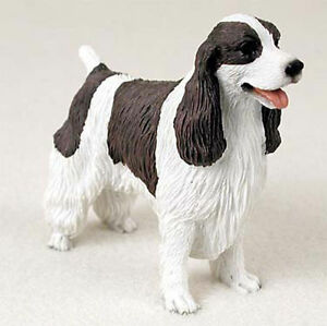 Details About Springer Spaniel Figurine Hand Painted Collectible Statue Liver
