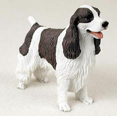 Springer Spaniel Hand Painted Collectible Dog Figurine Liver