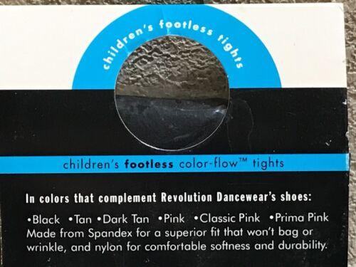 Prima Pink Dark Tan Child Revolution Footless Tights Spandex Black