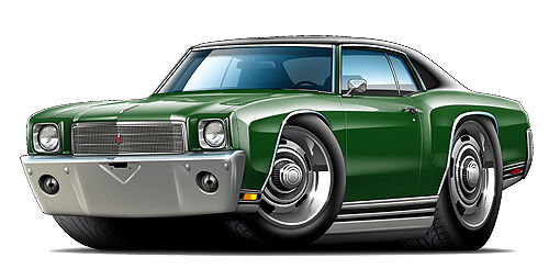 1970 Monte Carlo 350 454  Wall Graphic Decal Cartoon Car Art Man Cave Tools NEW