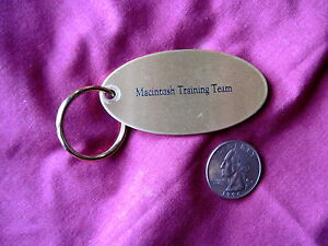 APPLE COMPUTER MACINTOSH TRAINING TEAM KEYCHAIN *VERY RARE* | eBay
