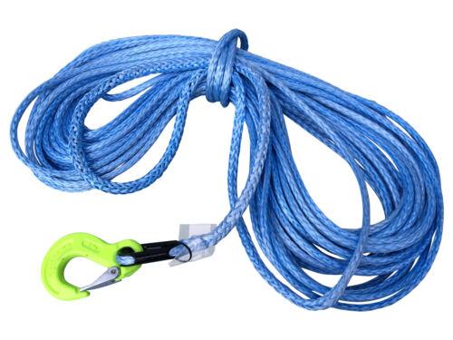 10mm 15m Synthetikseil aus Dyneema SK78 mit Kausche und Haken für Seilwinden