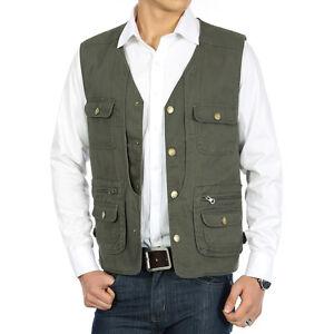Outdoor mesh fly fishing vest muli-use waistcoat safari ...