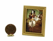 Miniature Gold Frame Print of Flower Oil Painting Dollhouse