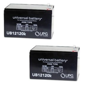 Details about 2 PACK UPG UB12120 12V 12AH F2 Costco 360 Eco Electric  Scooter Battery