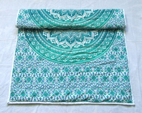 100/%Cotton Indian Reversible Baby Kantha Bedspread Quilt Throw Ethnic Blanket