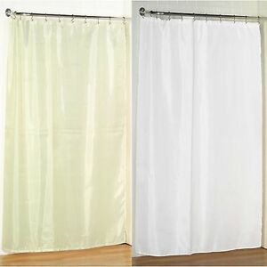 84 Long Size Fabric Shower Curtain 70 W X 84 L Weighted Hem Water Resistant Ebay