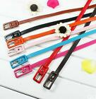 GO CA Fashion Casual Ajustable Women Candy PU Leather Thin Skinny Waistband Belt