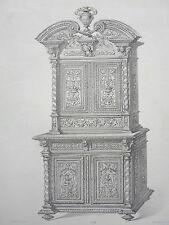 Meuble Cabinet RENAISANCE GRAVURE le MAGASIN de MEUBLES Victor QUETIN XIXéme