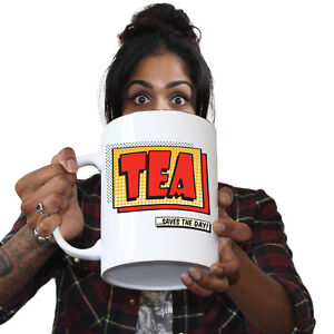 Details about  /Funny Coffee Mugs Tea Saves The Day Joke Gift Present Giant Large NOVELTY Mug
