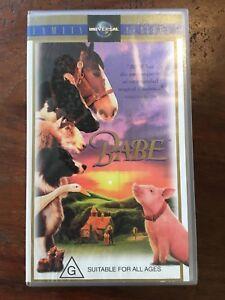 Babe-Retro-Vintage-Collectable-VHS-Movie-Tape-1995-Australia-family-G