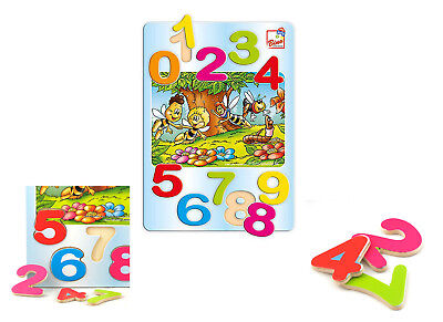 Erster Puzzlespaß Holz Memo Puzzle 16 Teile Biene Maja Bino Legespiel Spiele