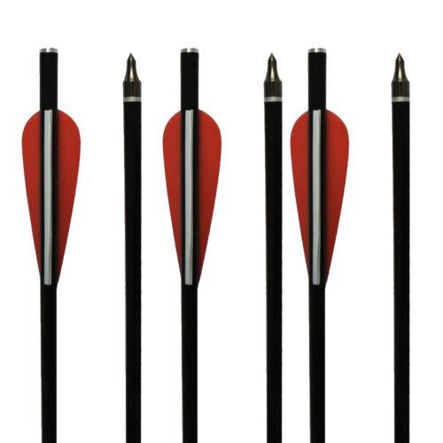 "12X 12//14//16//18/"" High quality Archery Hunting Arrows Fiberglass Crossbow Bolts"