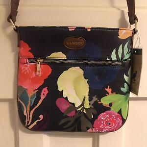 Kangol-Scarlett-Floral-Cross-Body-Bag-24-x-26cm-Navy-Neon-New-with-tags-BNWT