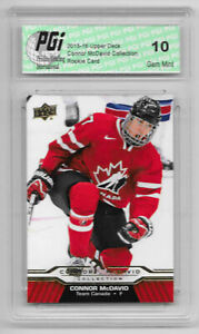 Connor McDavid 2015-16 Upper Deck Collection #CM-4 Rookie Card PGI 10 Oilers