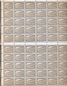 Mexique-1923-neuf-sans-charniere-50-C-definitif-60-timbres-Feuille-2-numeros-de-controle-DAB-201