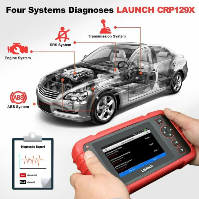 LAUNCH CRP129X OBD2 Scan Tool 4 System Diagnoses with Oil Reset, EPB/SAS/TPMS, Throttle Service,