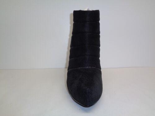 Nina 716142019052 Halzey laarzen 10 suede zwarte nieuwe enkellaarsjes hakken damesschoenen M maat Nw8OPk0Xn