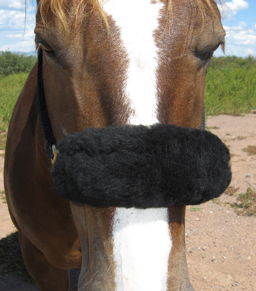 JMS 9 Halter piece REAL Merino Sheepskin Shipping Halter 9 Fuzzy Pads 10 Farbes USA Made 557586