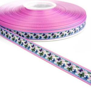 3m Deer /& Baubles Blue Buddly Crafts 10mm Christmas Printed Grosgrain Ribbon