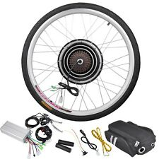 "36V 500W 26"" Rear Wheel Electric Bicycle Motor Kit E-Bike Cycling Hub Conversion"