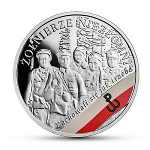 """""""Klinga/"""" Silver Coin The Enduring Soldiers Henryk G Poland 2017 10 zl /""""5/"""""""