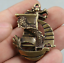 48MM-Curio-Chinese-Bronze-Animal-Lucky-Dragon-Boat-Ship-Wealth-Small-Pendant thumbnail 4
