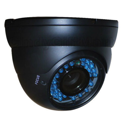 Dome Security Camera CCD 36 IR LEDs Outdoor Night Vision Surveillance 4-9mm 1Z6