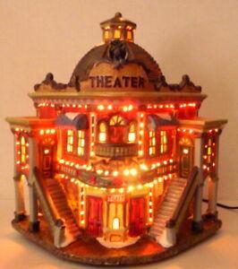 Victorian-Village-Theater-Box-Office-Grandeur-Noel-Christmas-Replacement-2003