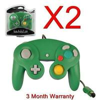 2x Controller For Nintendo Gamecube Gc & Wii Green/blue