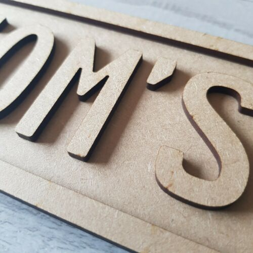 Personalised Name Street Sign Door Plaque for childrens bedroom in Mdf