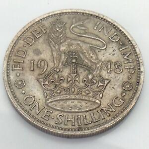 1948-Britain-UK-United-Kingdom-One-1-Shilling-Circulated-British-Coin-E829