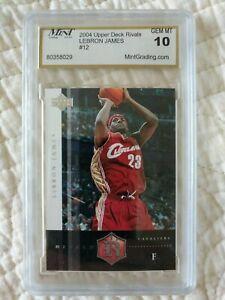 2004 LeBron James Upper Deck Rivals #12 MGS 10 Gem Mint! Cavs 2nd year card