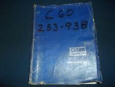Clark C60 Forklift Lift Truck Parts Manual Book Catalog