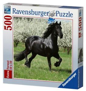Puzzle 500 Pièces Cheval Etalon noir Ravensburger 15244 50 x 50 CM