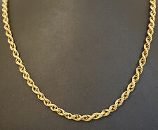"9Carat Yellow Gold 31.5"" Rope Chain (4mm Widest)"