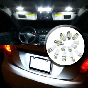 13x-Car-White-LED-Interior-Package-T10-Map-Dome-License-Plate-Light-Bulbs-Set