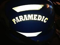 REFLECTIVE Crescents for Helmets EMS Firefighter Rescue Custom Safety FREE DECAL