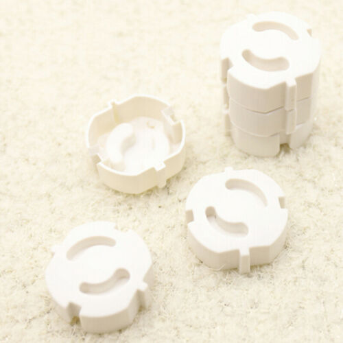 10Pcs eu power socket mains plug cover baby child safety protector guard Fad  ed