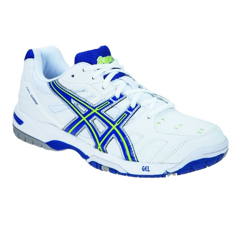 ASICS Gel-Game 4 Womens Tennis Shoes – White/Blue/Green New shoes for men and women, limited time discount