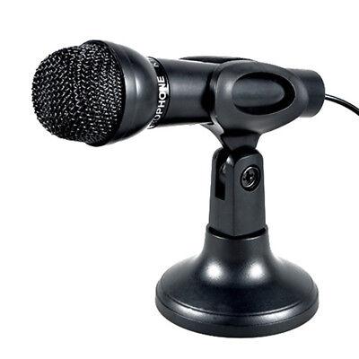 3.5mm Studio Microphone Mic w// Stand USB Camera for Skype Desktop MagiDeal
