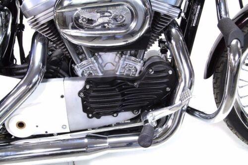 Finned Retro Cam Cover Black Harley Sportster Trim Mount 5 Speed Bobber Iron XL