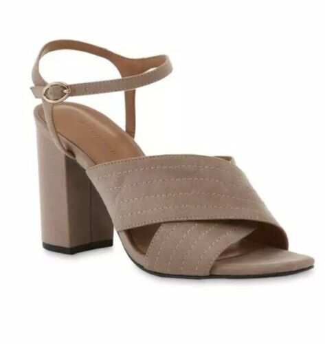 Attention Maddie 2 dress sandal woman's size 9 And Size 8 taupe color