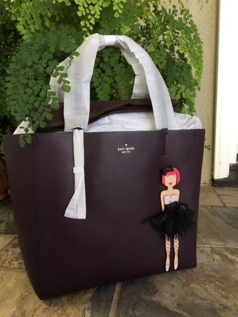 Kate Spade Hallie On Pointe Ballerina Tote Shoulder Bag Purse Brown